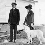 President Coolidge, Grace and dog, 1925