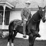 President Coolidge and horse